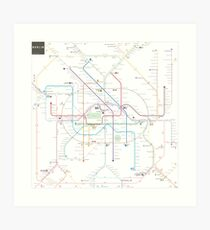 Berlin U-Bahn S-Bahn map Art Print