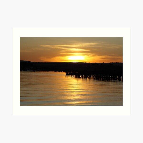 Amble sunset Art Print