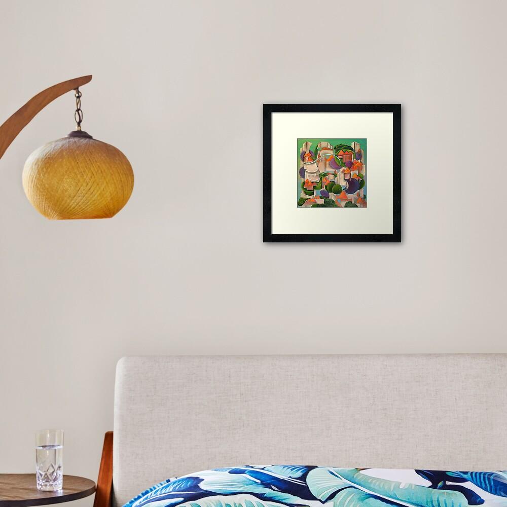 Green Building Environment Framed Art Print