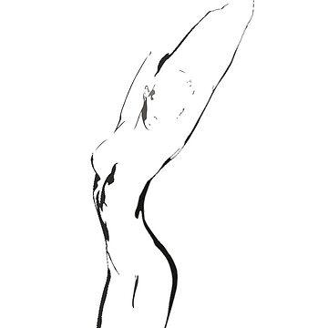 Woman body stylish art by sfw-media