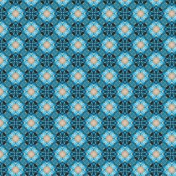 Blue Flower Inspired Kaleidoscope Pattern by jacoolda
