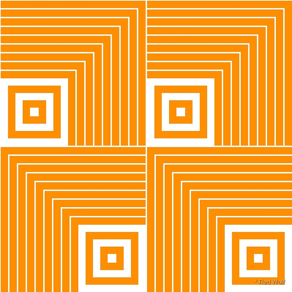 Geometric Pattern: Square Angle: Orange by * Red Wolf