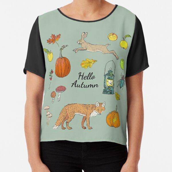 Hello autumn. Harvest season. Chiffon Top