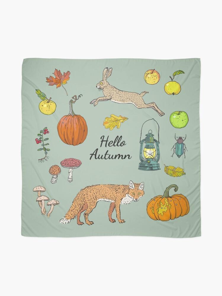 Alternate view of Hello autumn. Harvest season. Scarf