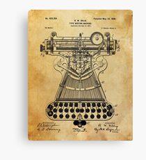 Typewriter Patent Canvas Print