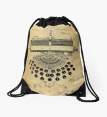 Typewriter Patent Drawstring Bag