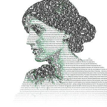 Virginia Woolf - Word Portrait (with words from Mrs. Dalloway) by goldenanchor