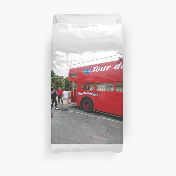 Double-decker bus, Bus, Hop on hop off, montreal, montreal city, travelling, tourist, hopOnhopOff, montrealcity, #bus, #hop, #on, #hopoff, #montreal, #city, #travelling, #hopOnhopOff, #montrealcity Duvet Cover