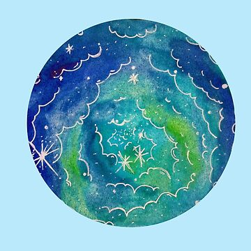 Galaxy blue watercolor by downeymore