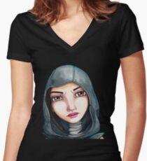 Fate (Watercolor Version) Women's Fitted V-Neck T-Shirt