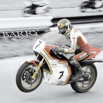 Barry Sheene 2, The hand tinted Version by JonDelorme