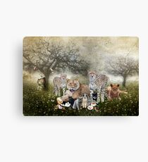 Big Cats and Small Canvas Print