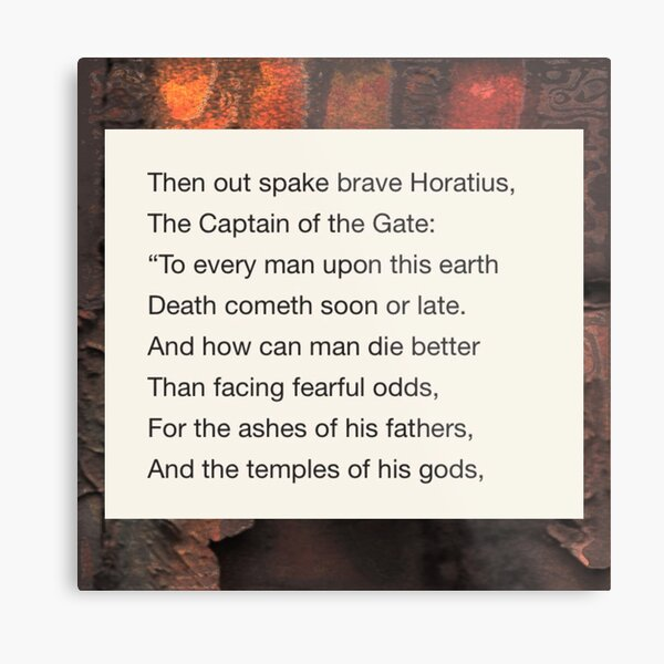 Horatius At The Bridge  Metal Print