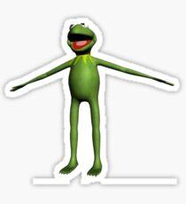 kermit the frog T posing Sticker