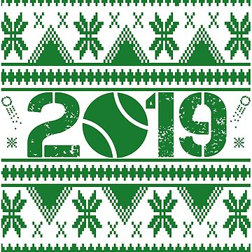 Tennis New Year 2019 by iwaygifts