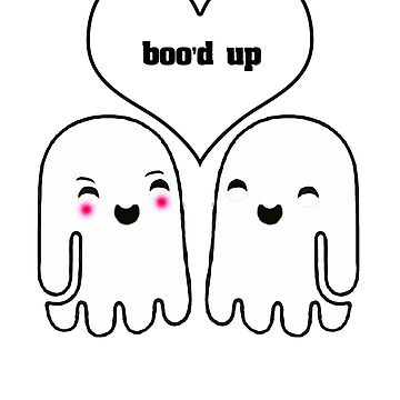 Halloween Boo'd Up Love Ghosts Trick Or Treat by Gestvlt