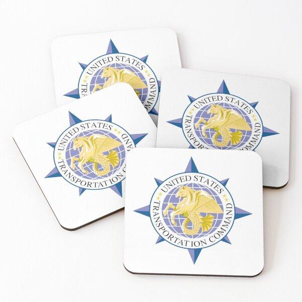 United States Transportation Command (USTRANSCOM) Emblem Coasters (Set of 4)