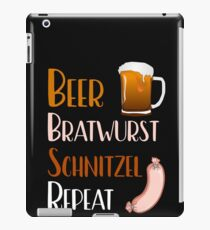 Funny Beer Bratwurst Schnitzel Repeat iPad Case/Skin