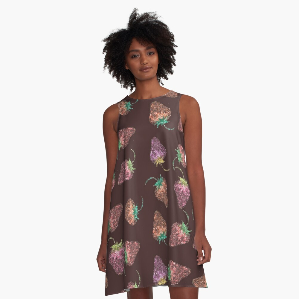 Too many questions about strawberries - cover art A-Line Dress Front
