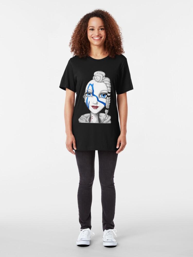 Alternate view of Huntress (Digitized Version) Slim Fit T-Shirt