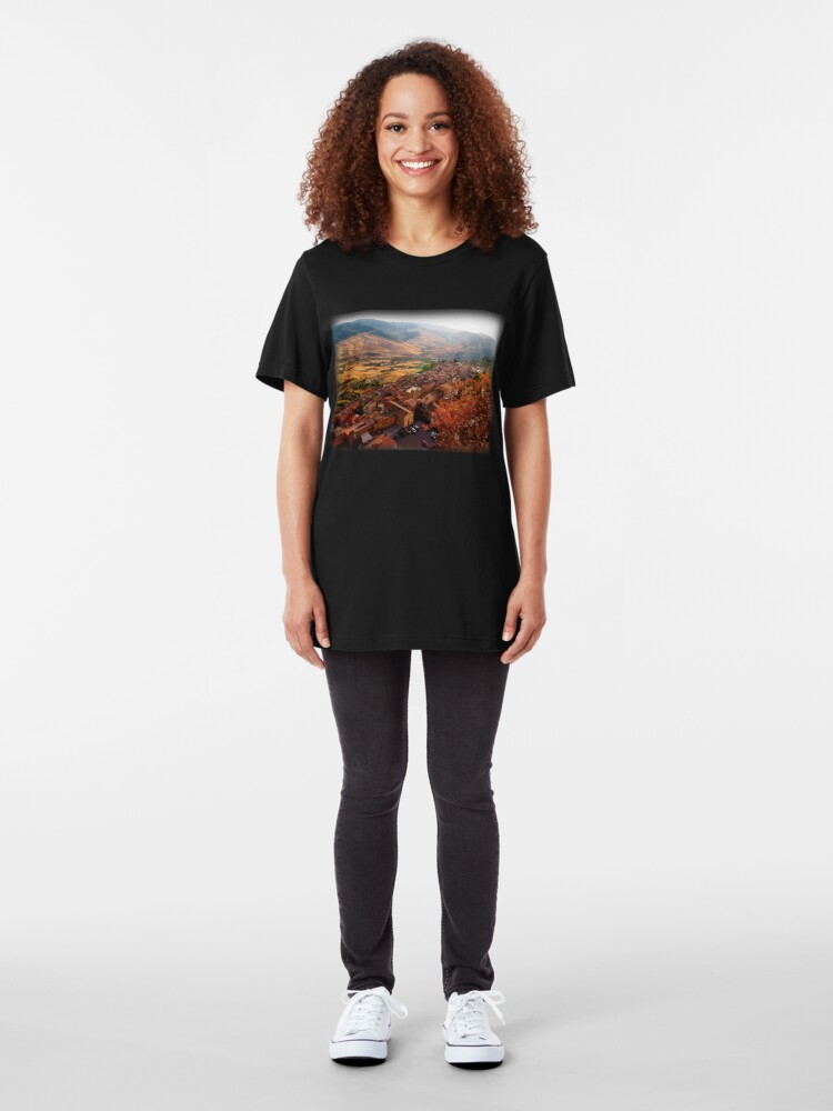 Alternate view of View over Sperlinga, Sicily Slim Fit T-Shirt