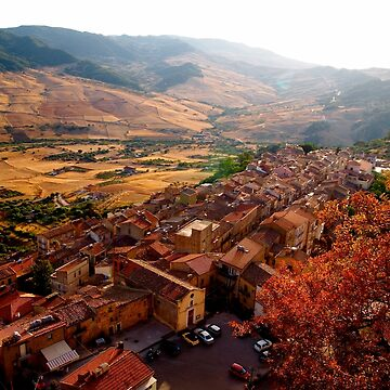 View over Sperlinga, Sicily by douglasewelch