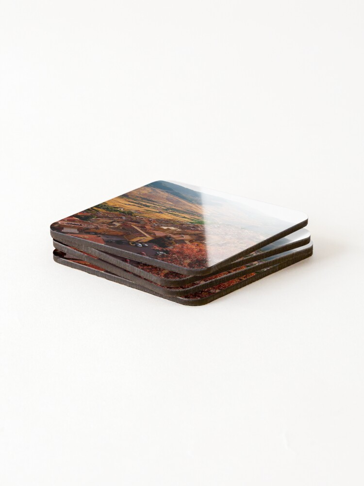 Alternate view of View over Sperlinga, Sicily Coasters (Set of 4)