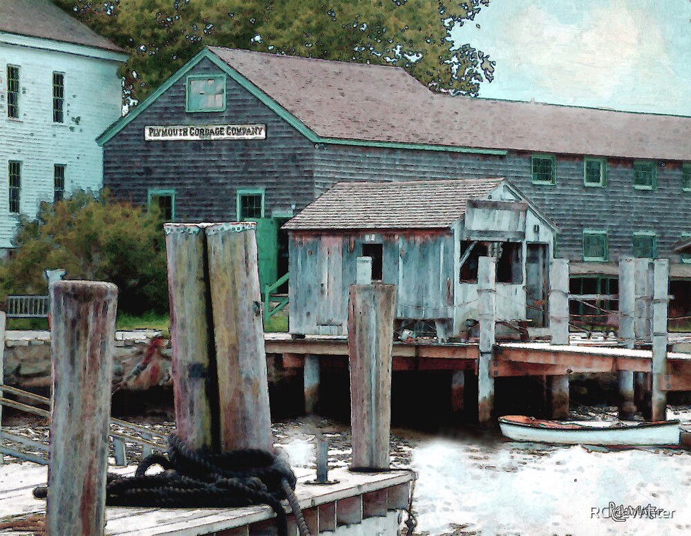 Dockside in High Summer by RC deWinter