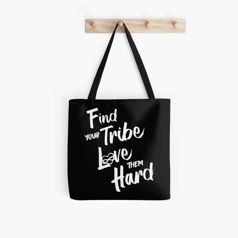 Find Your Tribe - Poly Infinite Heart  Tote Bag