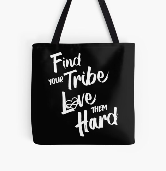 Find Your Tribe - Poly Infinite Heart  All Over Print Tote Bag