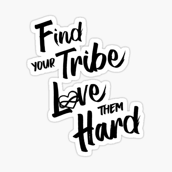 Find Your Tribe - Poly Infinite Heart  Sticker