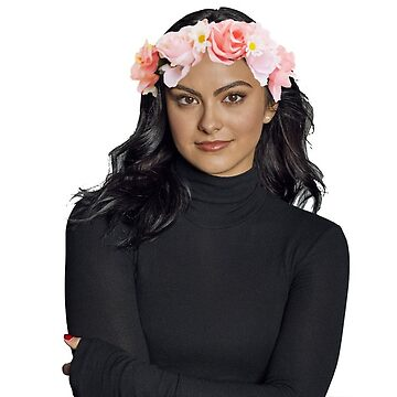 Camila Mendes with a flower crown by dibbledabbles