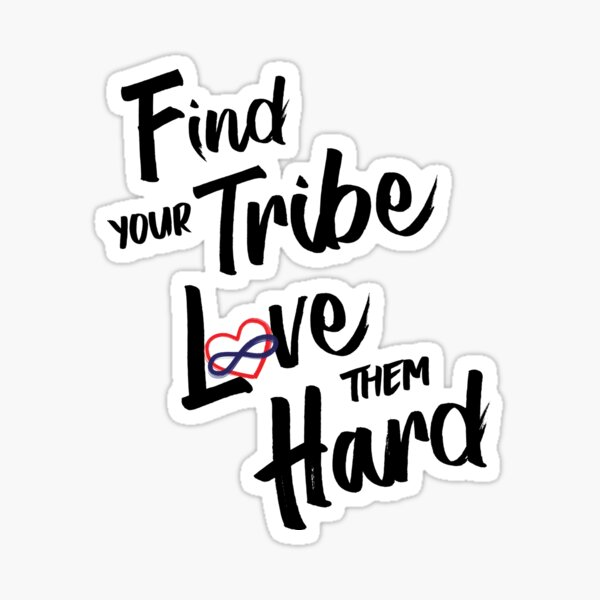 Find Your Tribe - Poly Infinite Heart (Color) Sticker