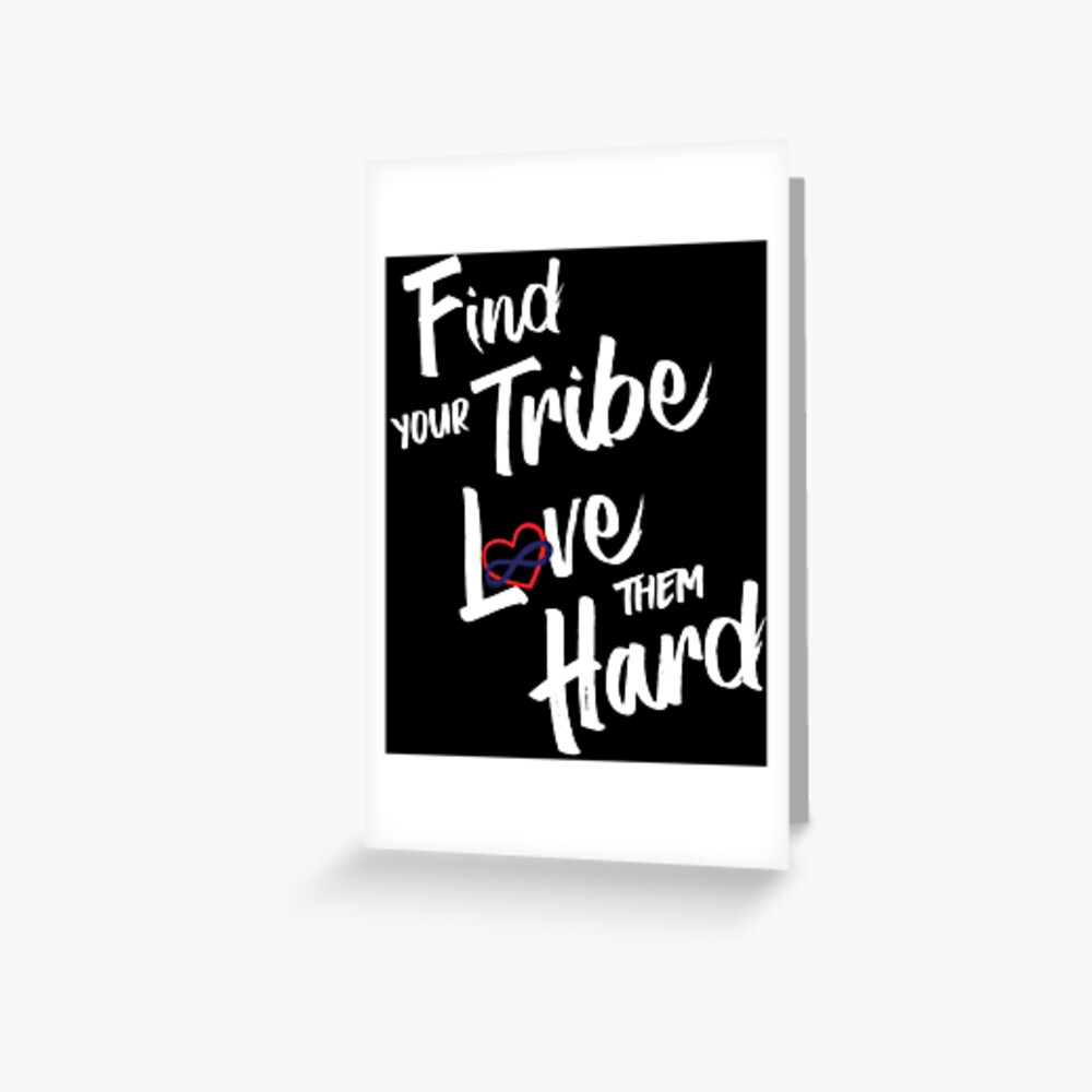 Find Your Tribe - Poly Infinite Heart (Color) Greeting Card