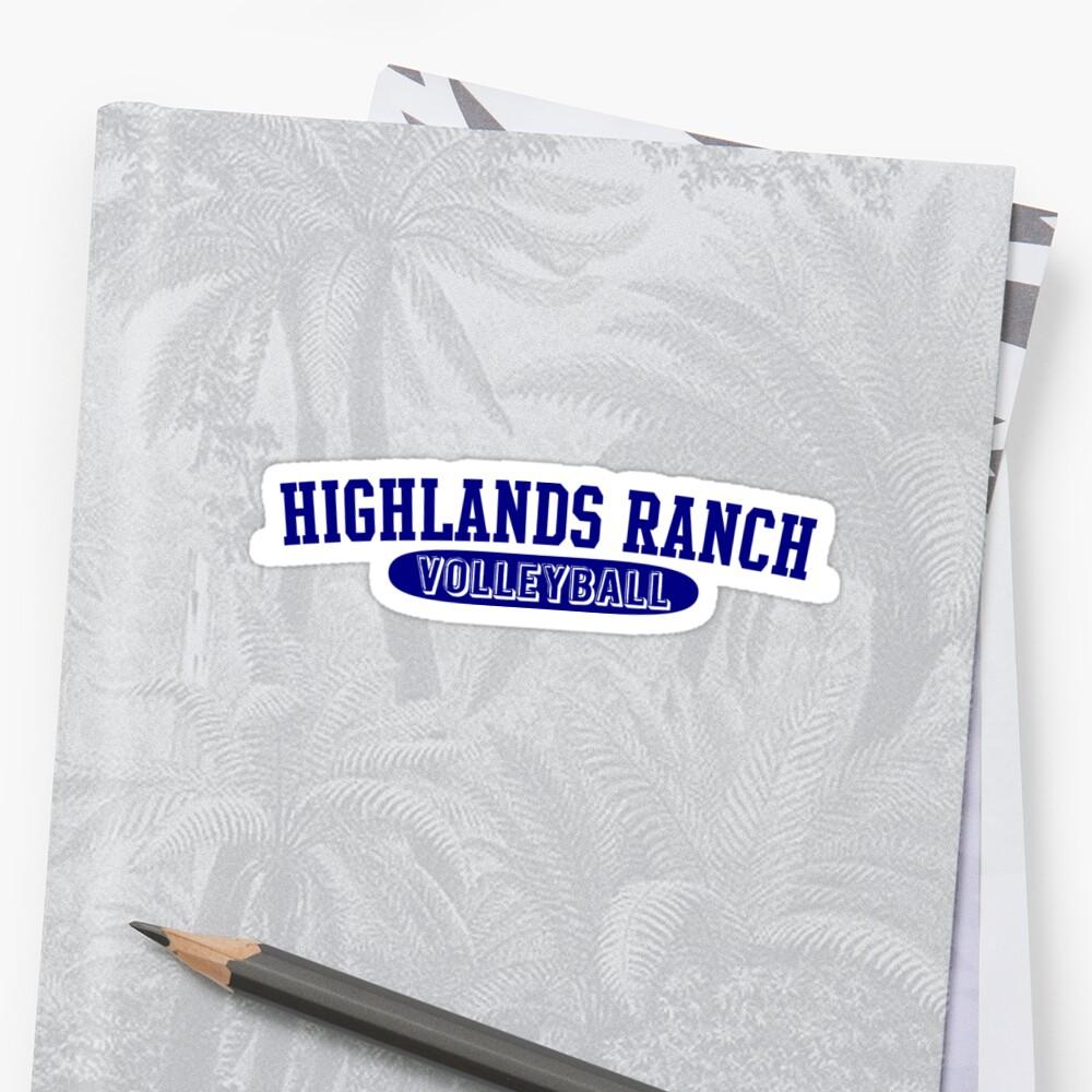 "Highlands Ranch High School: ""Highlands Ranch High School Volleyball Retro Logo"
