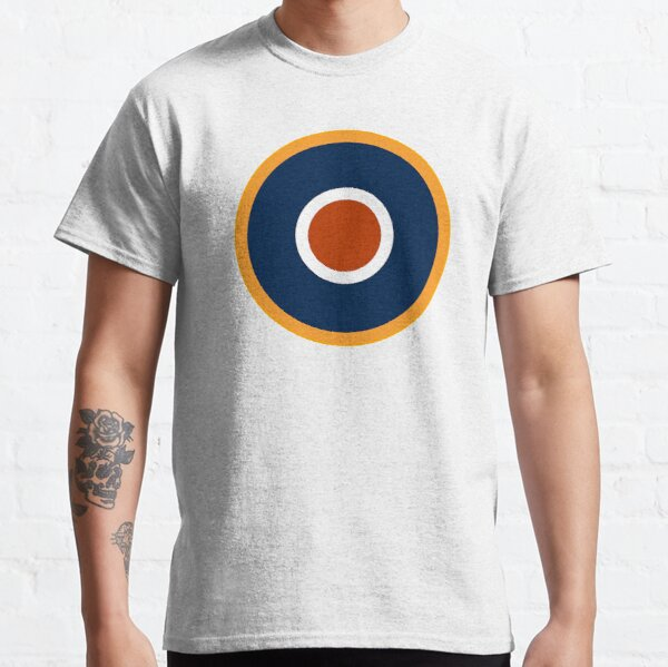 WAR. Spitfire, Bulls eye, Target, Archery, Plane, Aircraft, Flight, Wing, on white. Classic T-Shirt
