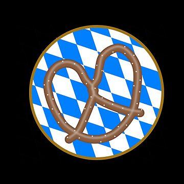 Oktoberfest pretzel on Bavarian Rautengrund by Garaunt