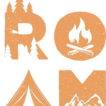 Roam Hiking Camping adventure forest fire mountain tent by Sandra78