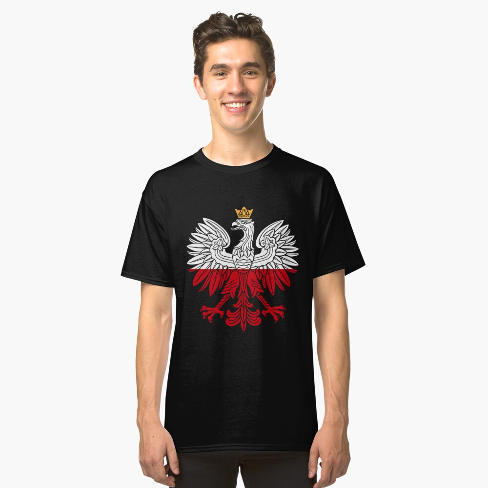 T-shirt Koszulka Eagle Orzeł Polish Flag Polish Poland Polska Patriotic White