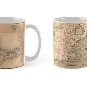 CAPE COD ANTIQUE MAP MUGS by tomb42