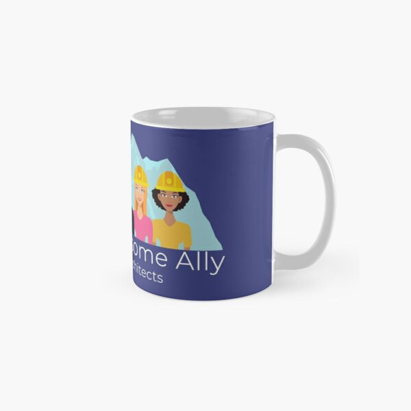 Awesome Ally Transparent - White Text Classic Mug