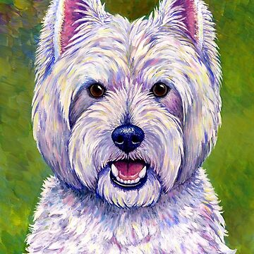 Colorful West Highland White Terrier Dog by lioncrusher