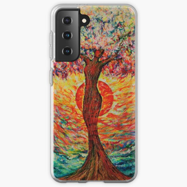 Tree of Life Power of the Elements Tree of Life painting Samsung Galaxy Soft Case
