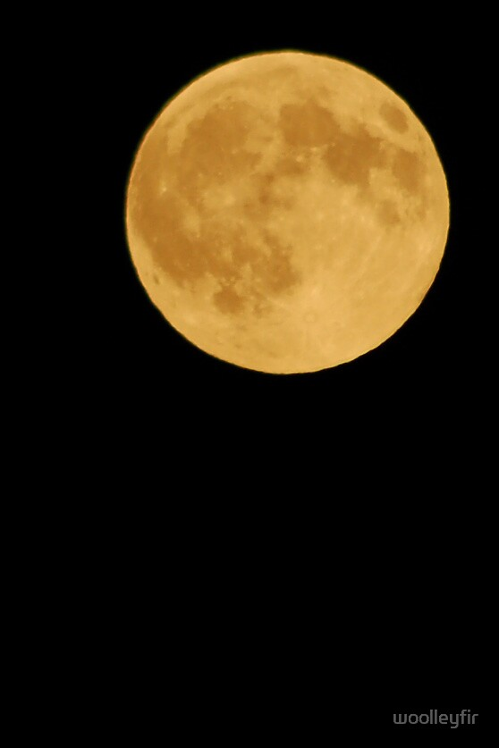Full moon by woolleyfir