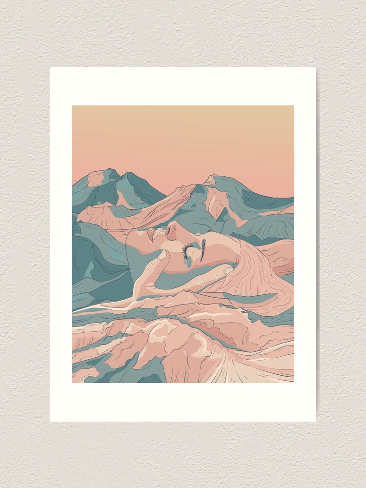 Alternate view of I Saw Her Face In The Mountains Art Print