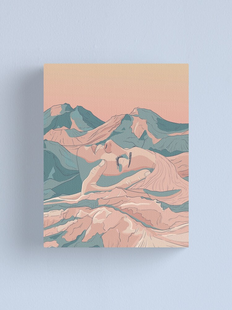 Alternate view of I Saw Her Face In The Mountains Canvas Print