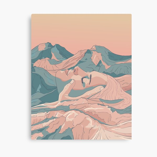 I Saw Her Face In The Mountains Canvas Print
