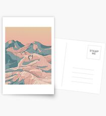 I Saw Her Face In The Mountains Postcards
