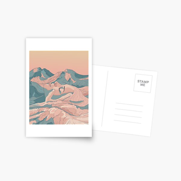 I Saw Her Face In The Mountains Postcard
