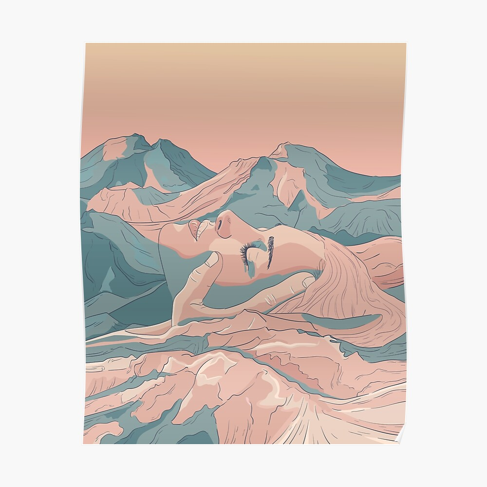 I Saw Her Face In The Mountains Poster